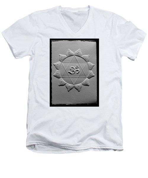Spiritual Om Yantra Men's V-Neck T-Shirt by Suhas Tavkar