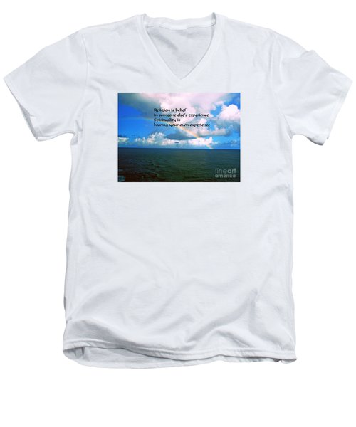 Men's V-Neck T-Shirt featuring the photograph Spirituality by Gary Wonning