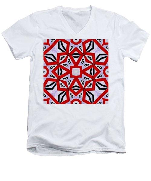Men's V-Neck T-Shirt featuring the digital art Spiro #3 by Writermore Arts