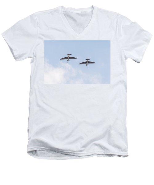 Spitfires Loop Men's V-Neck T-Shirt