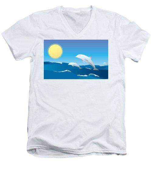 Splash Men's V-Neck T-Shirt by Now