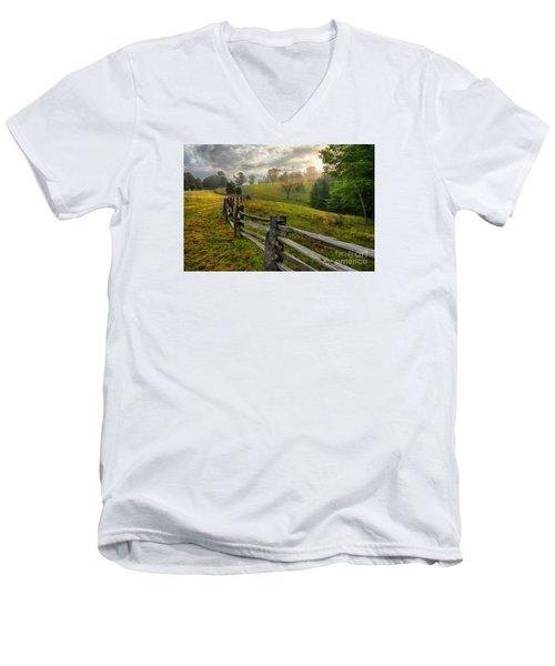 Splash Of Morning Light Men's V-Neck T-Shirt by Dan Carmichael
