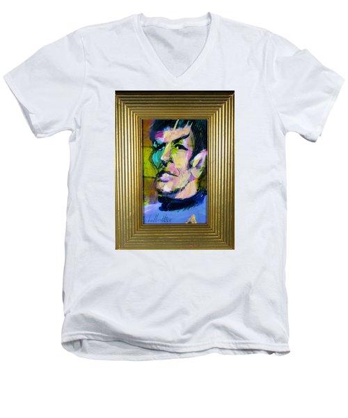 Spock Men's V-Neck T-Shirt by Les Leffingwell