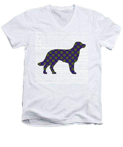 Spot Men's V-Neck T-Shirt by Now