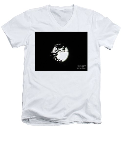 Spotlight Moon Men's V-Neck T-Shirt