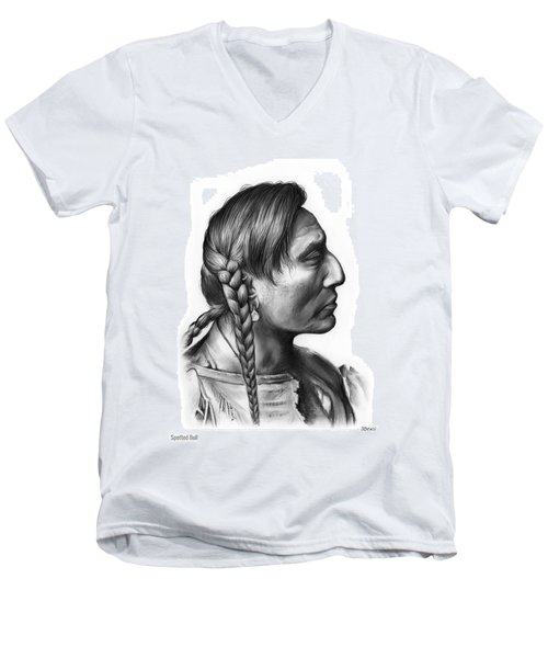 Spotted Bull Men's V-Neck T-Shirt