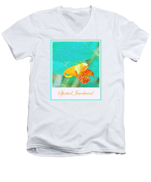 Men's V-Neck T-Shirt featuring the photograph Spotted Jewelweed Wildflower by A Gurmankin