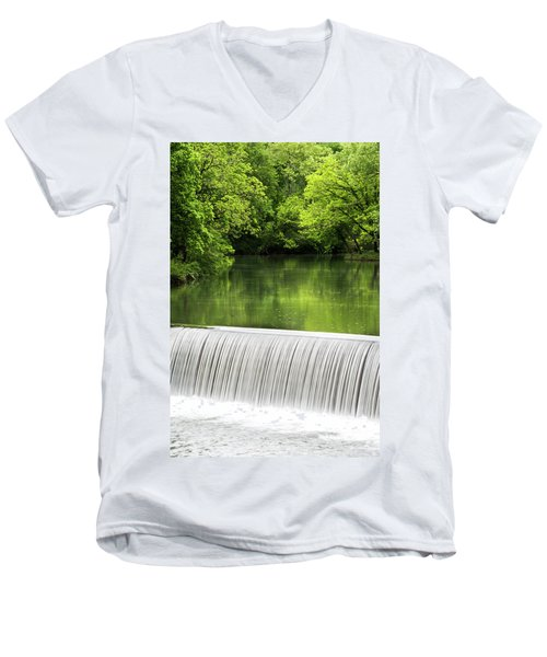 Men's V-Neck T-Shirt featuring the photograph Spring At Buck Creek by Parker Cunningham
