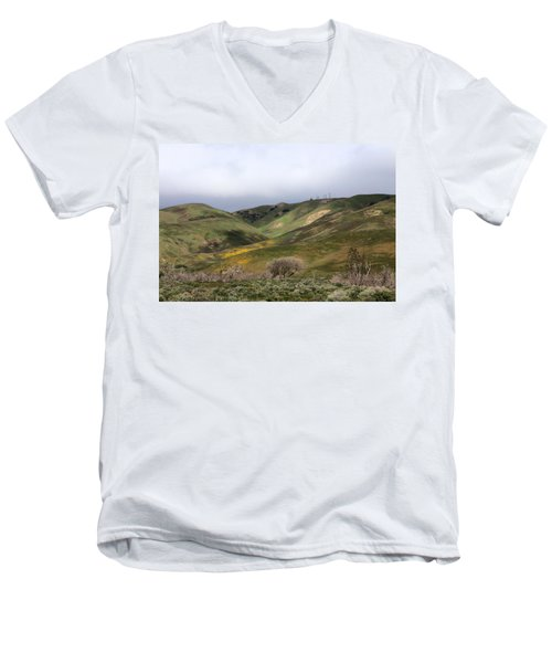 Men's V-Neck T-Shirt featuring the photograph Spring At Door by Viktor Savchenko