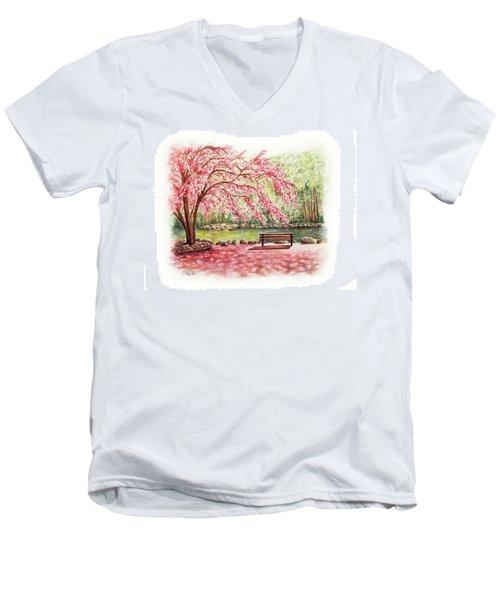 Spring At Lithia Park Men's V-Neck T-Shirt