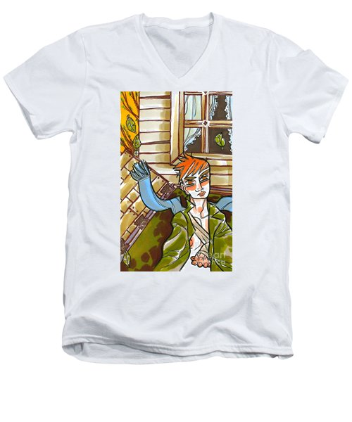 Autumnal Awakening Men's V-Neck T-Shirt