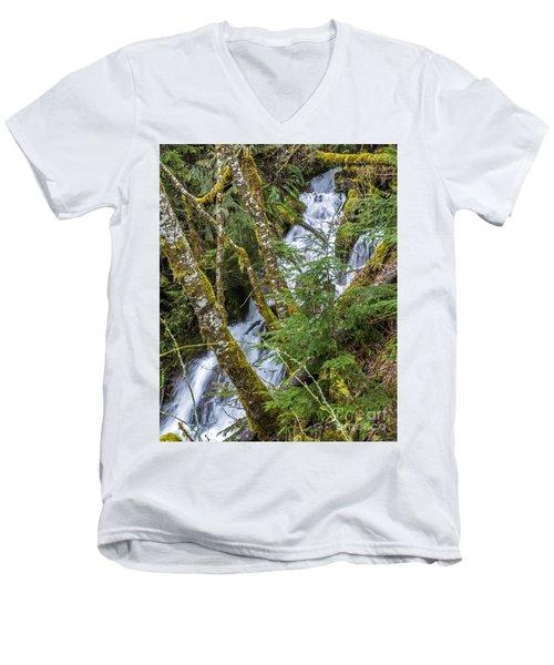 Spring Cascade Men's V-Neck T-Shirt