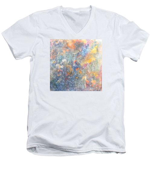 Spring Creation Men's V-Neck T-Shirt by Theresa Marie Johnson