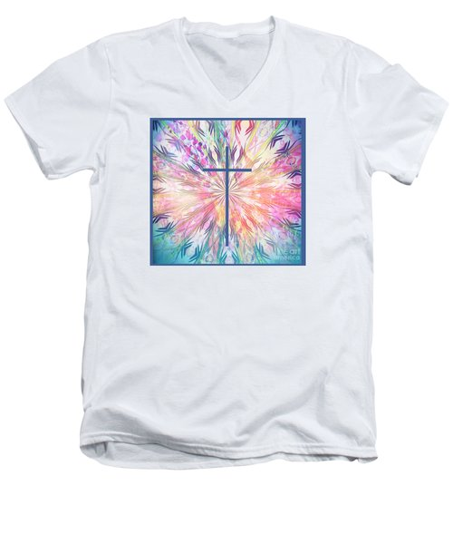 Men's V-Neck T-Shirt featuring the photograph Spring Cross by Geraldine DeBoer