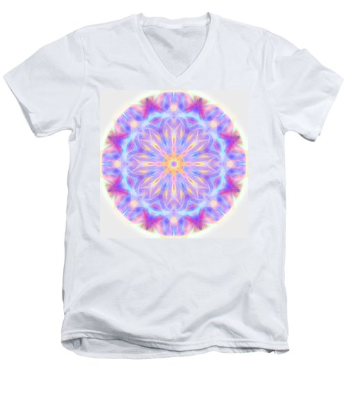 Spring Energy Mandala 3 Men's V-Neck T-Shirt