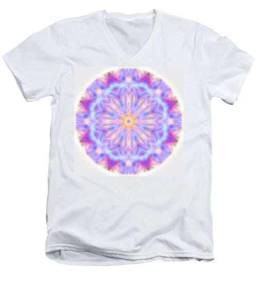 Spring Energy Mandala 3 Men's V-Neck T-Shirt