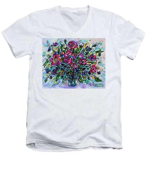 Spring Flowers Men's V-Neck T-Shirt
