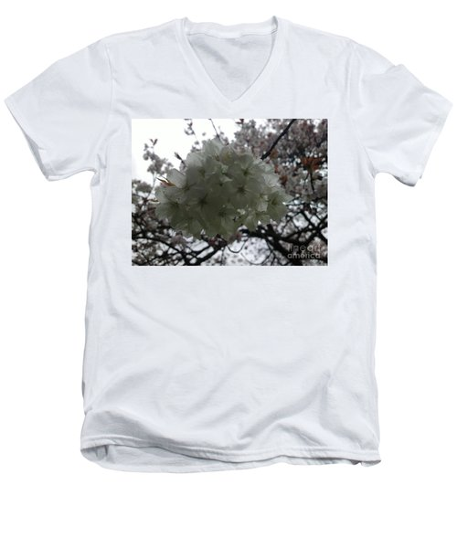 Men's V-Neck T-Shirt featuring the photograph Spring by Hanza Turgul