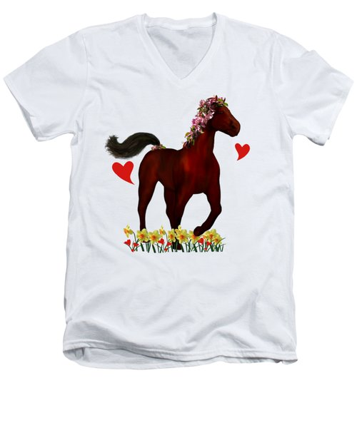 Spring Horse Men's V-Neck T-Shirt