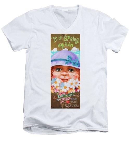 Spring Men's V-Neck T-Shirt by Igor Postash