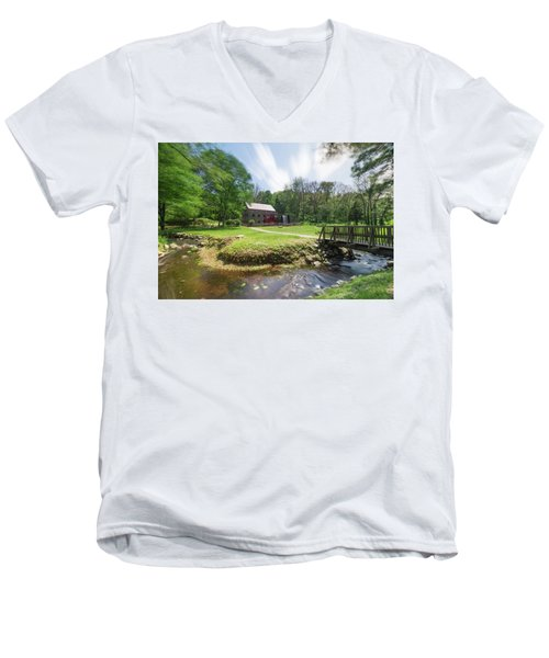 Spring In Sudbury Men's V-Neck T-Shirt