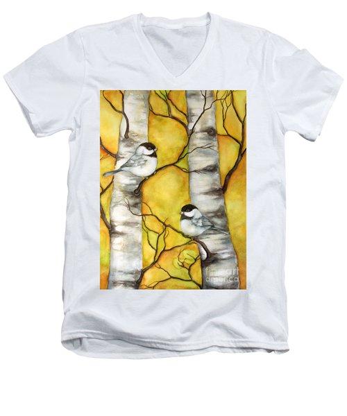 Spring Men's V-Neck T-Shirt by Inese Poga