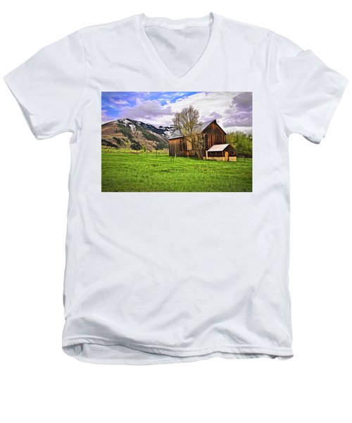 Men's V-Neck T-Shirt featuring the digital art Spring Is All Ways A Good Time Of The Year by James Steele