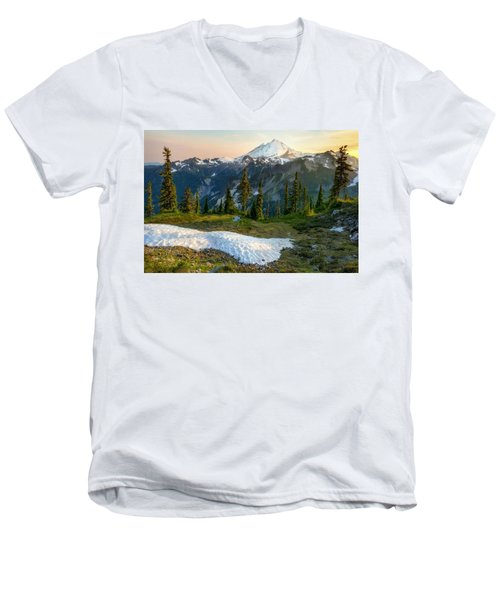Men's V-Neck T-Shirt featuring the photograph Spring Melt by Ryan Manuel