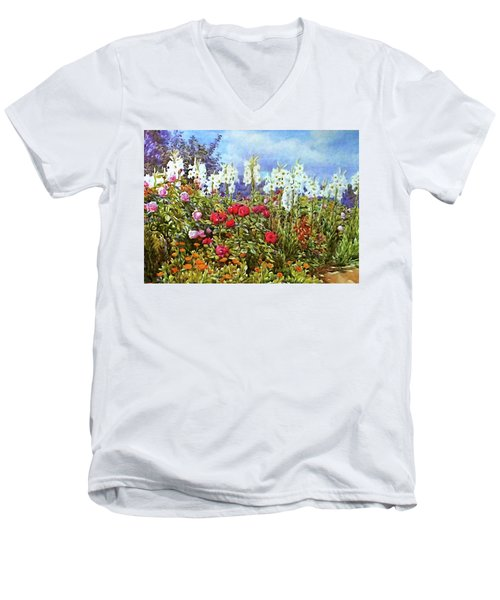 Men's V-Neck T-Shirt featuring the photograph Spring by Munir Alawi