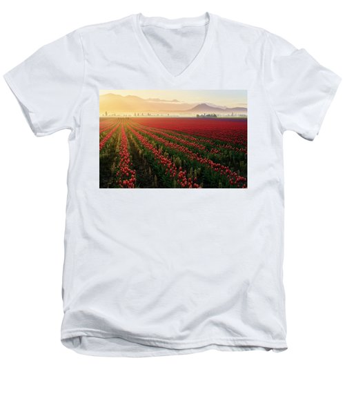 Men's V-Neck T-Shirt featuring the photograph Spring Palette by Ryan Manuel