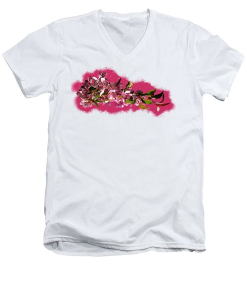 Spring Ribbon Men's V-Neck T-Shirt