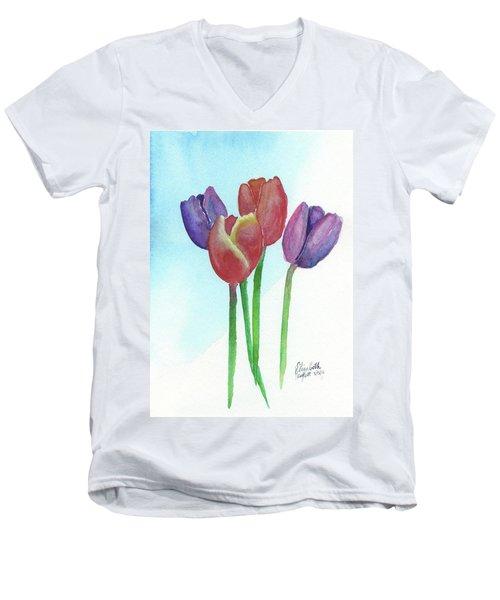 Spring Tulips Men's V-Neck T-Shirt