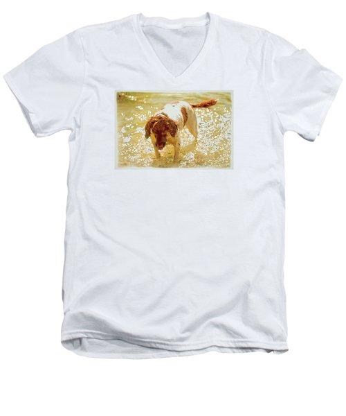 Springer Wc Men's V-Neck T-Shirt by Constantine Gregory