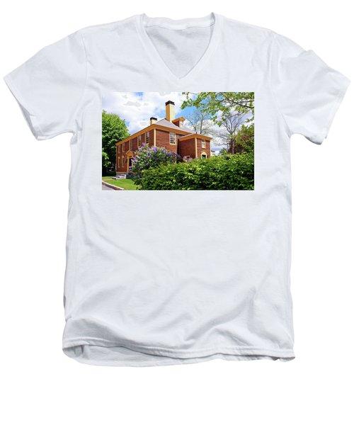 Springtime At Folsom Tavern Men's V-Neck T-Shirt