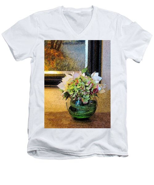 Springtime Delight 1 Men's V-Neck T-Shirt by Cedric Hampton