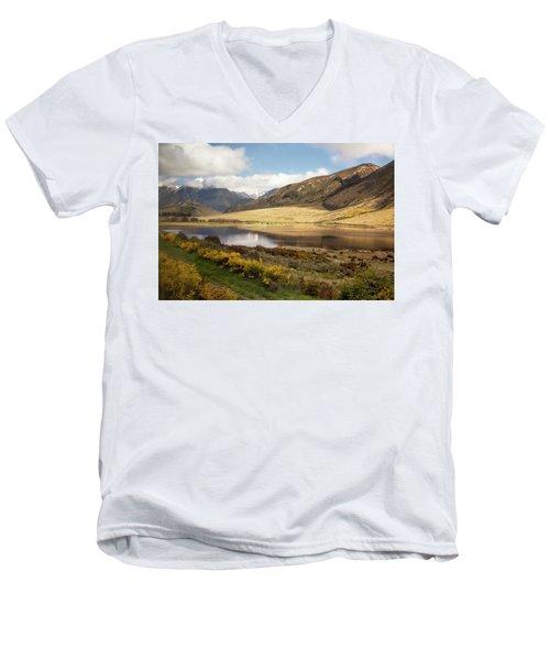 Springtime In New Zealand Men's V-Neck T-Shirt