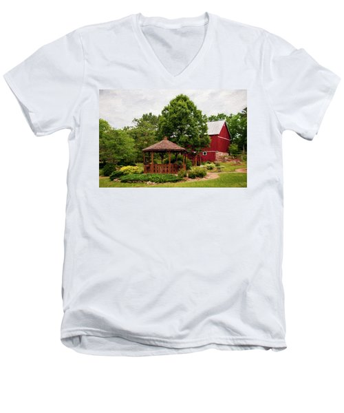 Men's V-Neck T-Shirt featuring the photograph Springwater Park by Trey Foerster