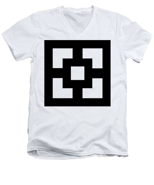 Men's V-Neck T-Shirt featuring the digital art Squares - Chuck Staley by Chuck Staley
