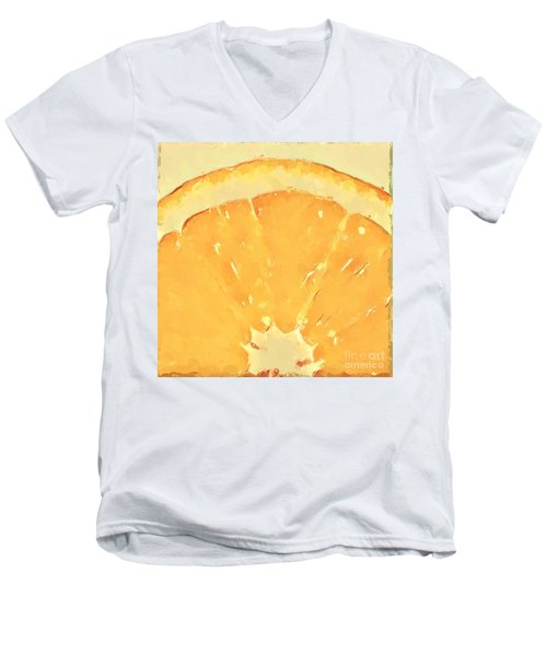 Men's V-Neck T-Shirt featuring the mixed media Squeeze Me 2 by Anthony Fishburne