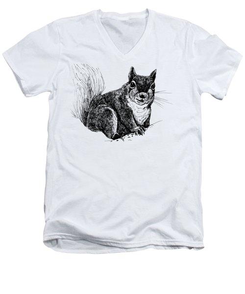 Squirrel Drawing Men's V-Neck T-Shirt by Katerina Kirilova