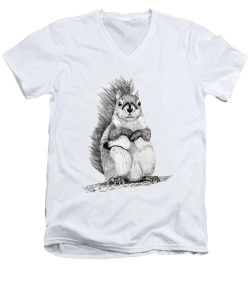 Squirrel Men's V-Neck T-Shirt by John Stuart Webbstock