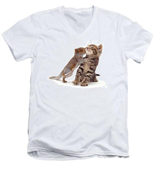 Squirrel Kiss Men's V-Neck T-Shirt