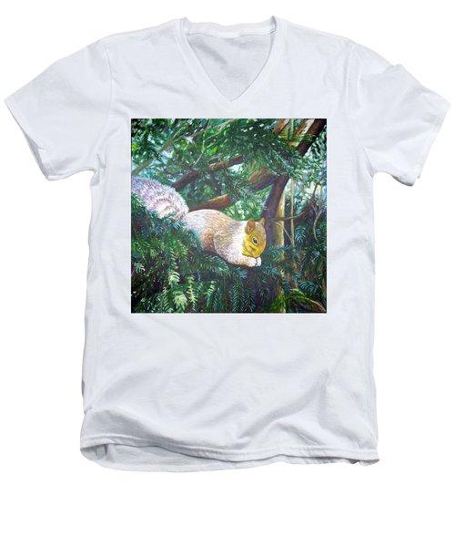 Squirrel Snacking Men's V-Neck T-Shirt