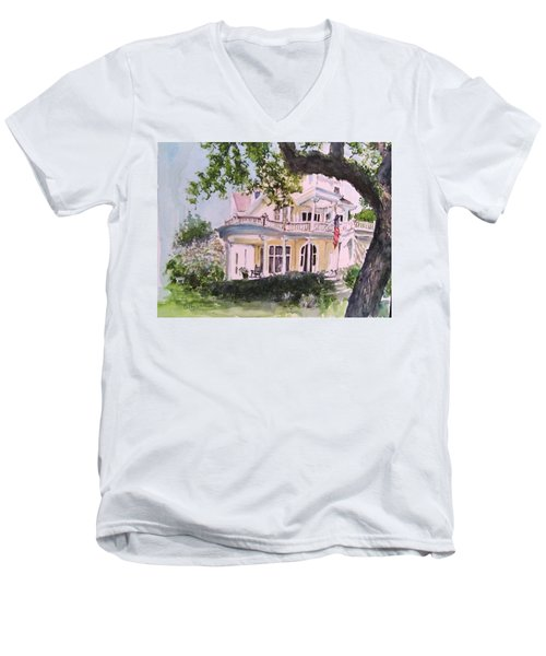 St Charles @ Valance New Orleans Men's V-Neck T-Shirt