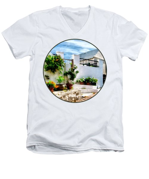 St George Bermuda - Sunny Street Men's V-Neck T-Shirt