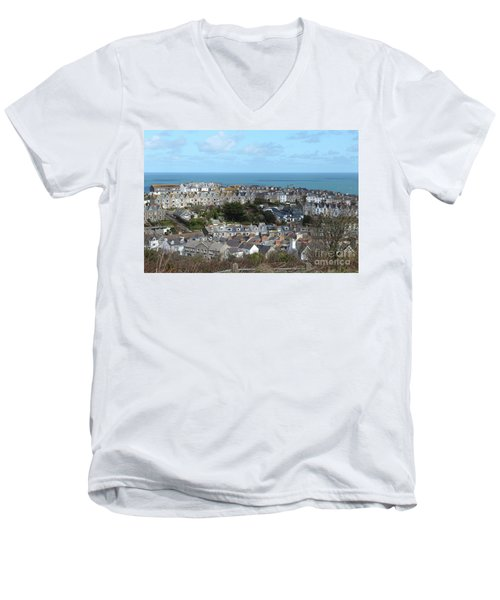 Men's V-Neck T-Shirt featuring the photograph St Ives, Cornwall, Uk by Nicholas Burningham