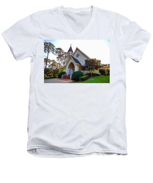 St. James V2 Fairhope Al Men's V-Neck T-Shirt by Michael Thomas