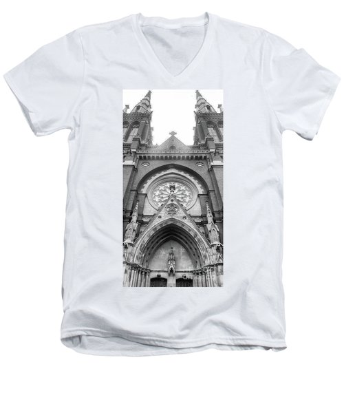 St. John's Cathedral In Helsinki, Finland. Men's V-Neck T-Shirt