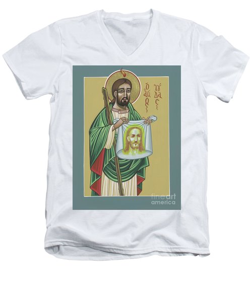 St Jude Patron Of The Impossible 287 Men's V-Neck T-Shirt