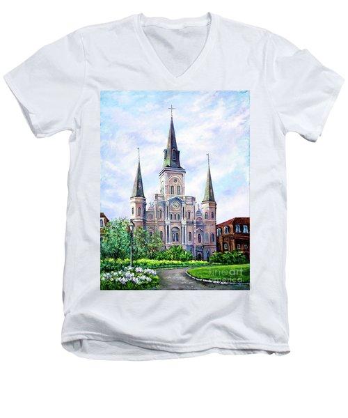St. Louis Cathedral Men's V-Neck T-Shirt